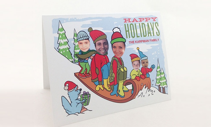 SillyWise: Custom Holiday Cards with Envelopes from SillyWise (Up to 80% Off)