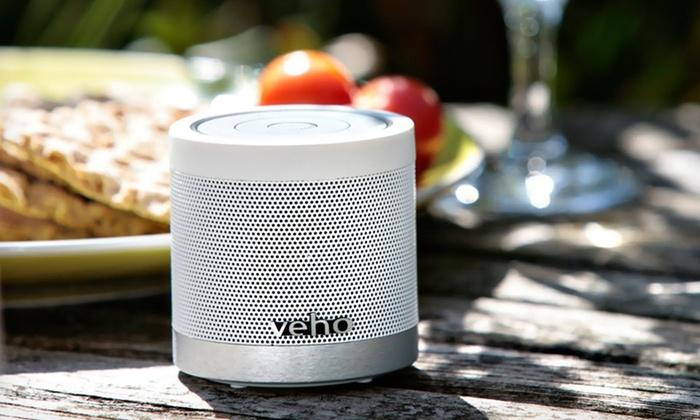 Veho Bluetooth Wireless Speaker with MicroSD Card Slot: $32.99 for an Ice-White Veho Bluetooth Wireless Speaker ($69.95 List Price)