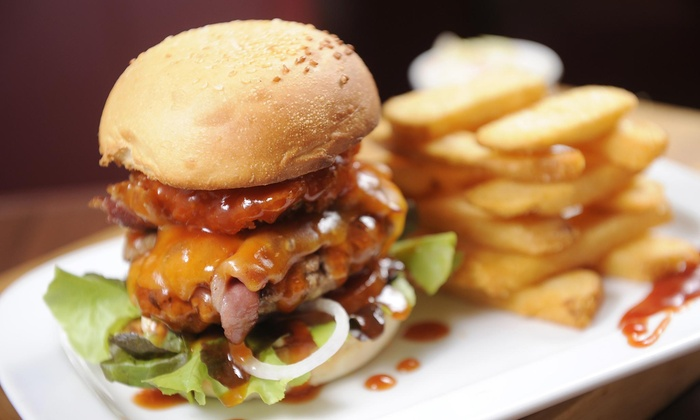 No Name Cafe - Woodville: One Burger with Fries at noname cafe (44% Off)