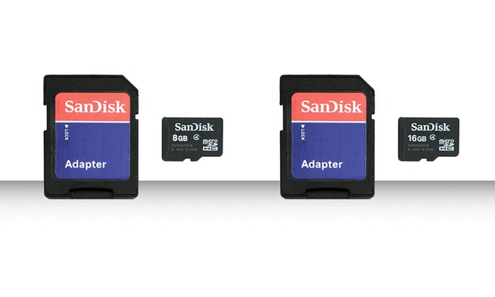 Sandisk Micro SDHC Memory Cards: Sandisk 8GB or 16GB Micro SDHC Memory Card and Adapter from $9.99–$13.99. Free Returns.