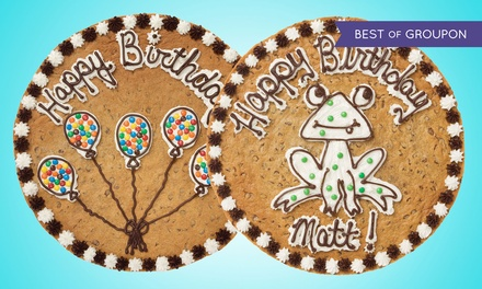 12-Inch Round Cookie Cakes at Great American Cookies at Outlet Shoppes of Oklahoma City (50% Off)