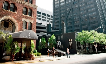 Groupon Deal: Stay with Two Drinks at Raffaello Hotel in Downtown Chicago; Dates into April 2015