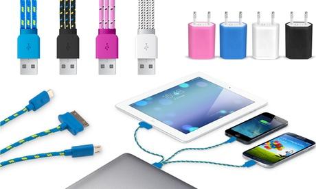 Cable de carga 3 en 1 trenzado para smartphones y tablets por 3,99 € y con adaptador por 7,95 € Oferta en Groupon