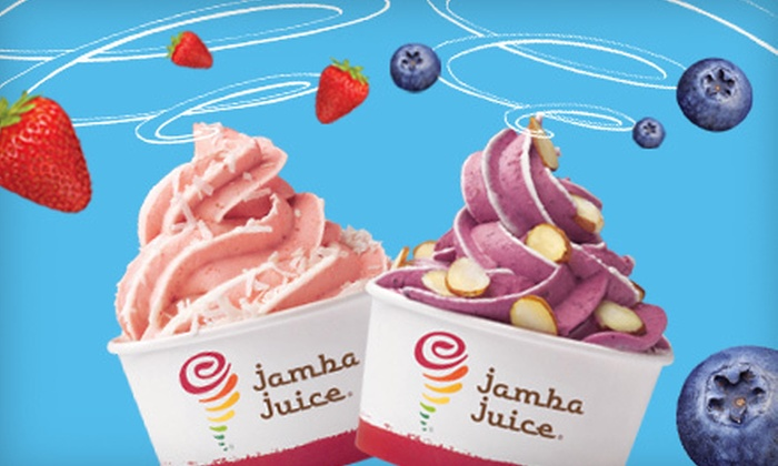 Jamba Juice - Los Angeles: $5 for Two Medium Whirl'ns Frozen Yogurts with Two Toppings Each at Jamba Juice ($10.50 Value)