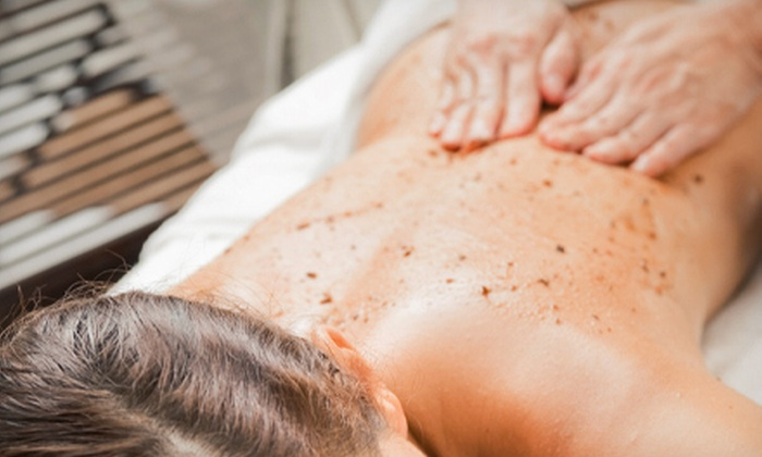 Spa 25 - Selden: Spa Package with Scrub, Wrap, Massage, and Champagne for One or Two at Spa 25 (Up to 57% Off)