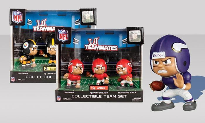 NFL Lil' Teammates Action-Figure 3-Pack: NFL Lil' Teammates Action-Figure 3-Pack. Multiple Teams Available. Free Returns.