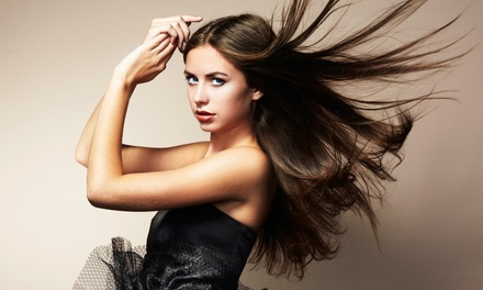 Hair Styling by Shelby Brugnoli-Webb at New Attitude Hair and Nail Salon (Up to 59% Off). Four Options Available.