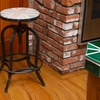 Dempsey Backless Barstool with UK Flag Decal