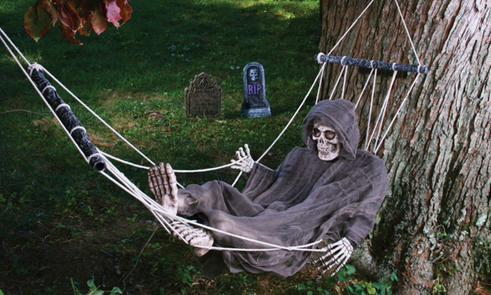 Lazy Bones Decoration  Reaper Halloween Decoration