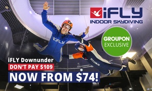 iFLY Downunder: Indoor Skydiving Package for One ($74) or Two ($129) at iFLY Downunder, Penrith (Save Up to 40%)