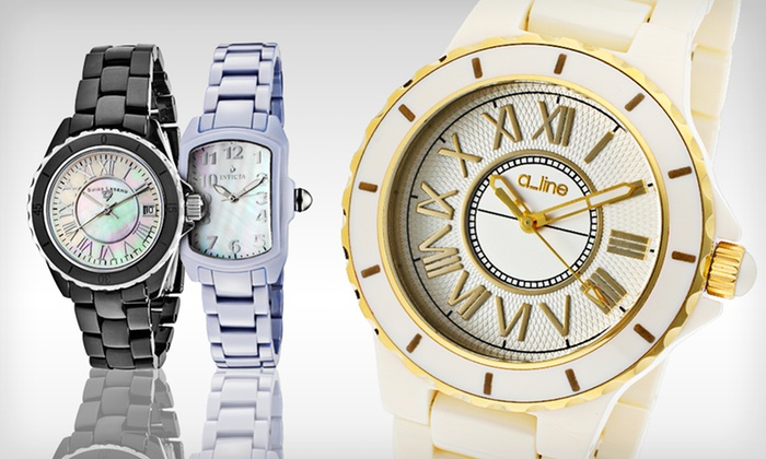 Men's and Women's Ceramic Watches: Men's and Women's Ceramic Watches (Up to 91% Off). Multiple Styles Available.