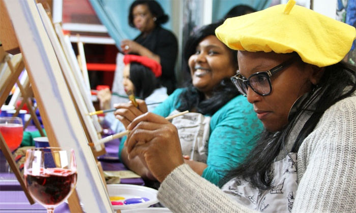 Paint and Chill - Paint and Chill: Two-Hour Class for One, Two, or Four at Paint and Chill (Up to 59% Off)