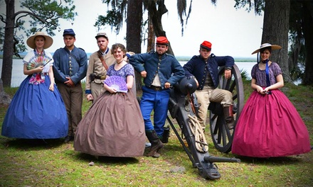 Day Pass, Camping Package, or Cottage Package for Family of Four at Fort McAllister (Up to 43% Off)