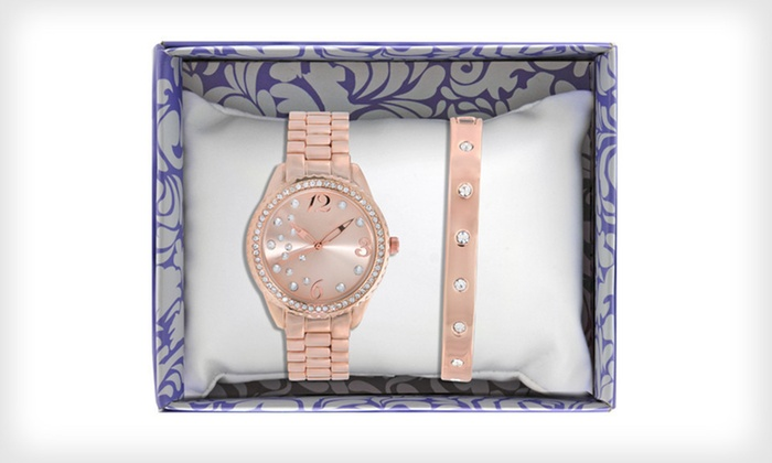 Jules and James Watch and Bracelet Gift Set: $17 for a Jules and James Women's Singles Watch ($49.99 List Price). Four Styles Available. Free Shipping and Returns.