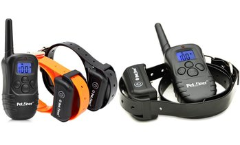 Petrainer Rechargeable Waterproof Dog Training Collar (1- or 2-Pack)