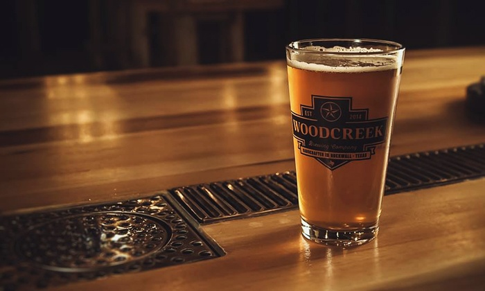 Woodcreek Brewing Company - Rockwall: Saturday Tour with Samples for Two or Four at Woodcreek Brewing Company (Up to 41% Off)