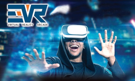 OneHour Virtual Reality Session for Up to Four at EVR Virtual Reality Arcade