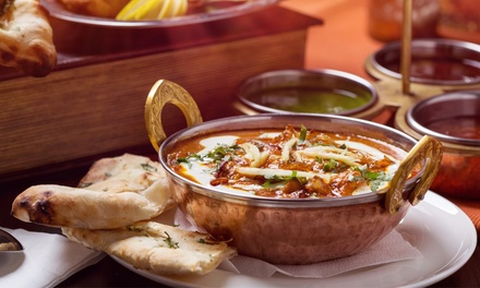 Two-Course Indian Meal with Rice or Nan Bread for Two or Four People at Agra Cottage (Up to 52% Off)