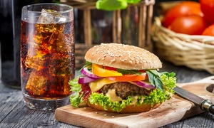 Charlie's Bistro: Burger with a Hot or Cold Drink from R112 for Two at Charlie's Bistro (50% Off)