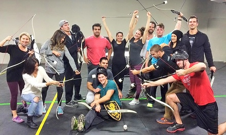 Archery Tag for 2, 4, or 6, or a Party for 10 at The Hood Archery Games (Up to 55% Off). Five Options Available.