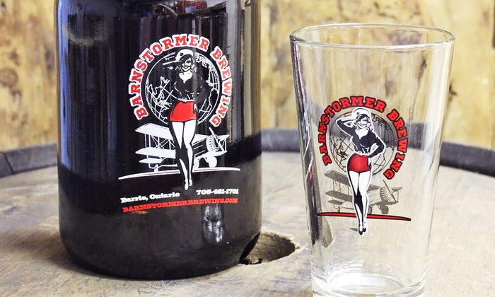 Barnstormer Brewing - Barnstormer Brewing: Tour Package for One or Two with Tasting, Fried Pickles, and Growler at Barnstormer Brewing (Up to 52% Off)