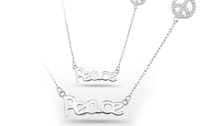 Sterling Silver Hope, Luck, Believe, and Peace Necklaces: Sterling Silver Hope, Luck, Believe, and Peace Necklaces. Free Returns.