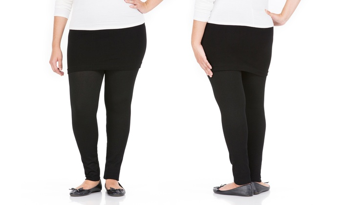 6e81a21596be6d Sociology Women's Plus Size Skirted Leggings | Groupon Exclusive ...