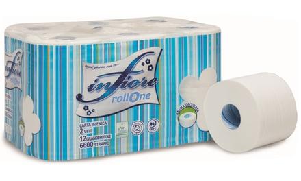 Fino a 72 rotoli di carta igienica Infiore a 2 veli con 550 strappi