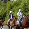 Paseo a caballo y menú