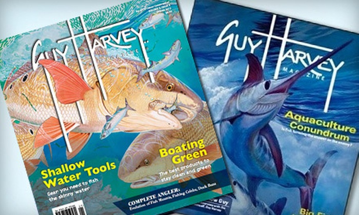 "Guy Harvey Magazine: $ 10 for One-Year Subscription to ""Guy Harvey Magazine"" ($ 24.95 Value)"