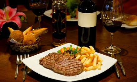 Two-Course Steak Meal With a Large Glass of Wine for Two or Four at The Bell Inn