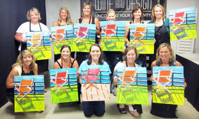Wine and Design - Williamsburg: $17 for a Two-Hour Evening Art Class at Wine and Design ($35 Value)