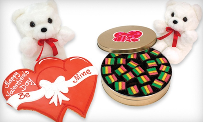 Clever Cookie - Islip: Stuffed Bear with a Double-Heart Cookie or Rainbow Cookies, or $25 for $50 Worth of Cookies and Gifts from Clever Cookie