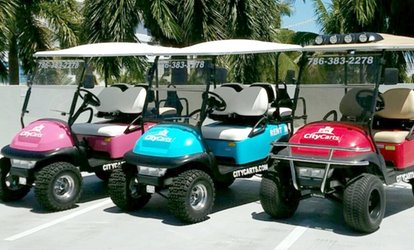 image for Two- or Three-Hour Golf Cart Rental from CityCarts (Up to 57% Off)