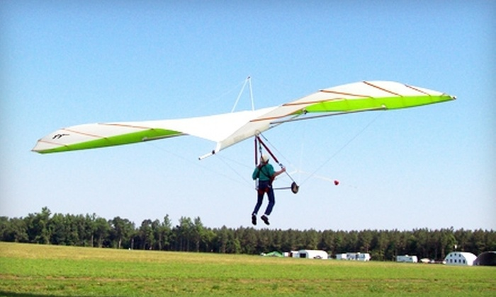 Blue Sky Virginia Hang Gliding - Manquin: Beginner Hang-Gliding Lesson for One or Two at Blue Sky Virginia Hang Gliding (52% Off)