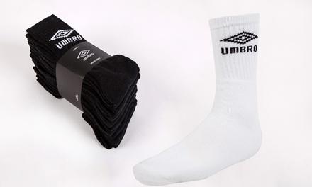 Pack de 10 calcetines Umbro disponible en varios colores y tallas por 14,99 €