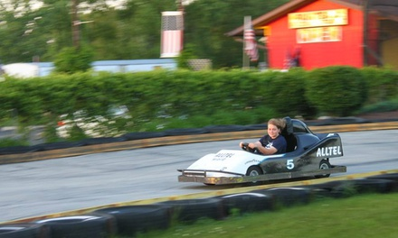 Family Fun-Park Outing for Two or Four with Go-Kart Rides and Rounds of Mini Golf at Fun Time Square (50% Off)