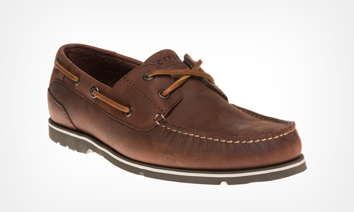 97490bf839 Men s Rockport Leather Boat Shoes
