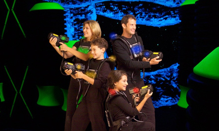 Luigi's Pizza and Fun Center - Aurora: Laser-Tag Session, Game Credits, Soda, and Pizza for Two, Four, or Six at Luigi's Pizza and Fun Center (Up to 51% Off)
