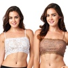 2-Pack of Pure Style Breathable Stretch Lace Half-Camisoles
