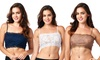 Pure Style Women's Breathable Stretch Lace Half-Camisoles (2-Pack): Pure Style Women's Breathable Stretch Lace Half-Camisoles (2-Pack)
