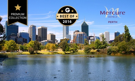 Perth CBD: 1-5 Nights City Getaway with Wine and Late Checkout for Two People at the 4.5-Star Mercure Perth