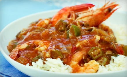 Cajun Dinner and Drinks for Two or Four at Crossroads (Up to 51% Off). Four Options Available.