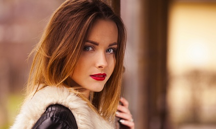 Blowout, or Haircut with Optional Single-Process Color at Nest Salon (Up to 54% Off)