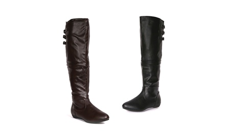 Carrini Women's Over-the-Knee Boot with Extendable Calf