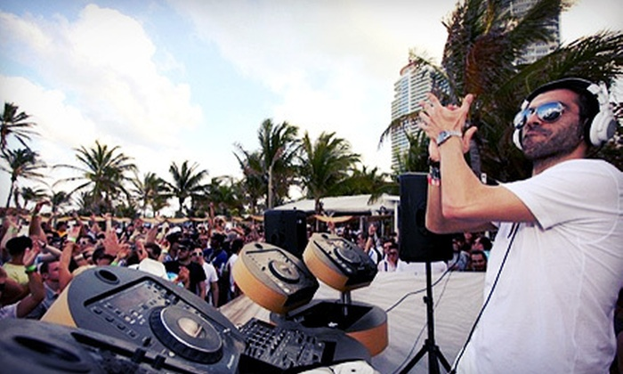 WMC Electric Beach - Nikki Beach: $20 for WMC Electric Beach Party Entry on Saturday, March 16, at Nikki Beach ($40 Value)