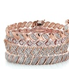 0.50 or 1.00 CTTW Diamond Tennis Bracelets in Rose Gold Plating
