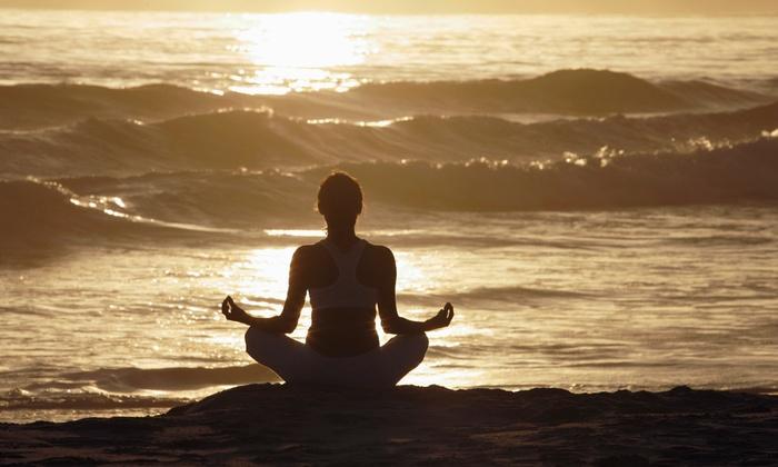Sun and Moon Beach Yoga - North Ave Beach: 10 Beach-Yoga Classes or Unlimited Classes for a Season for New Students at Sun and Moon Beach Yoga (Up to 71% Off)