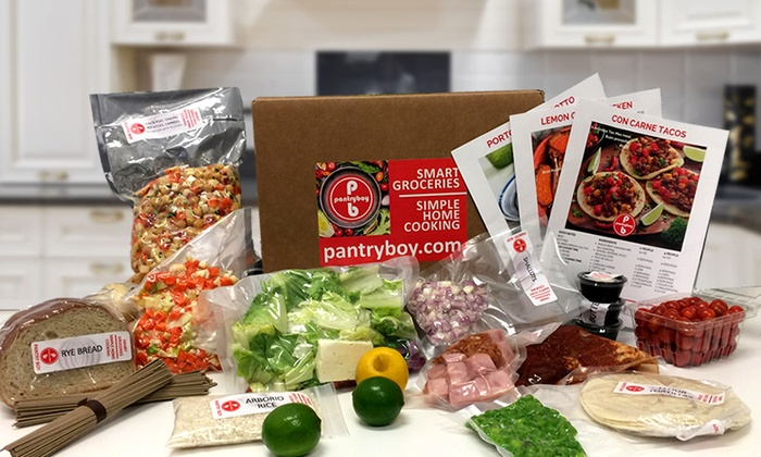 Three Days of Prepared Dinner Ingredients for Two or Four from Pantry Boy (Up to 50% Off). 6 Options Available.