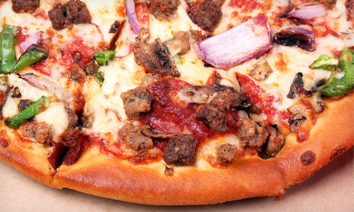 Pizza Time! - Briargate: Pizza Package with Two Pizzas, Salad, and Breadsticks or Garlic Knots or $5 for $10 Worth of Pizza at Pizza Time!